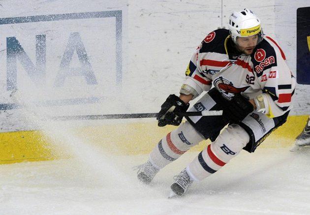 Chomutovský útočník Josef Straka v utkání proti Liberci.