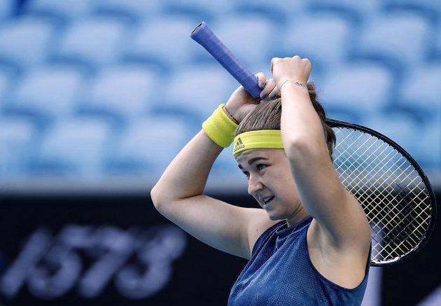 Karolína Muchová v osmifinále Australian Open.