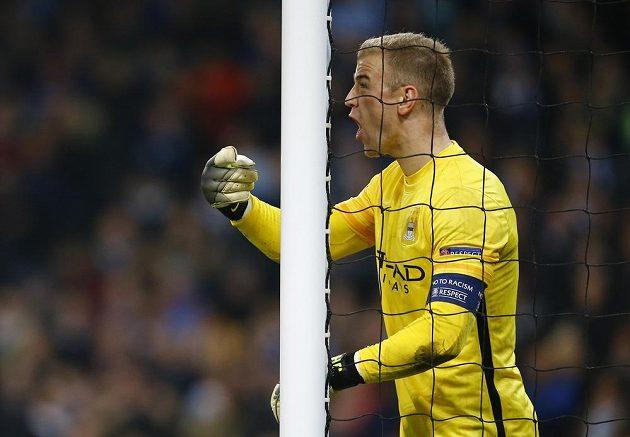 Gólman Manchesteru City Joe Hart během odvety čtvrtfinále Ligy mistrů proti PSG.