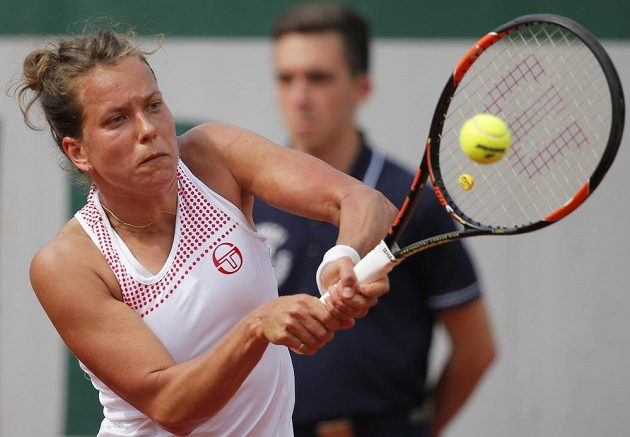 Barbora Strýcová v utkání 3. kola French Open.