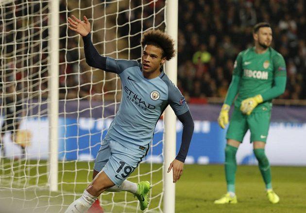 Leroy Sané z Manchesteru City vstřelil první gól anglického týmu.