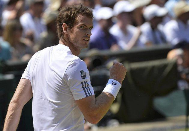 Murrayho vítězné gesto.