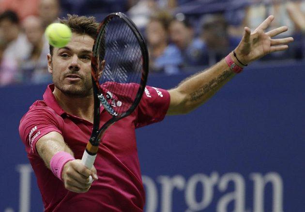 Stan Wawrinka během semifinále US Open.