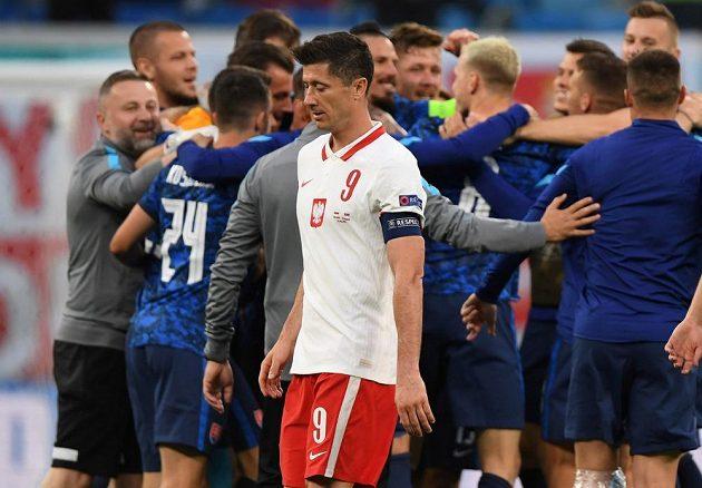 Disappointed Polish gunner Robert Lewandowski after the EURO match with Poland.
