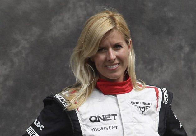 Španělská závodnice Maria de Villotaová před nehodou.