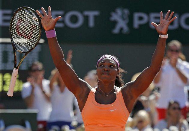 Serena Williamsová právě proměnila mečbol ve finále Roland Garros.