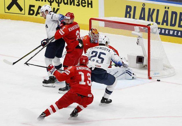 Hokejisté Ruska byli proti Spojeným státům v první třetině lepším týmem