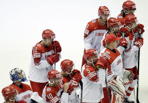 Sen se zhroutil. Dánští hokejisté na domácím MS po porážce od Lotyšska nepostoupili do čtvrtfinále.