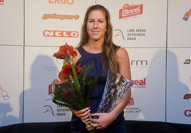 Vodní slalomářka Kateřina Kudějová, třetí v anketě o nejlepšího sportovce Českého svazu kanoistiky za uplynulý rok.