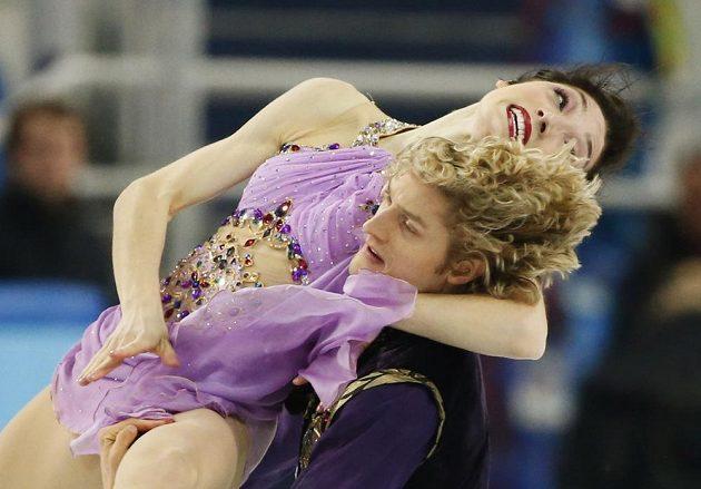 Taneční pár Meryl Davisová a Charlie White z USA během volné jízdy.