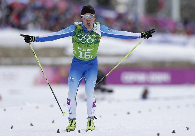 Běžec na lyžích Sami Jauhojärvi (na snímku) dovezl Finy do cíle závodu v týmovém sprintu klasickou technikou na první příčce.
