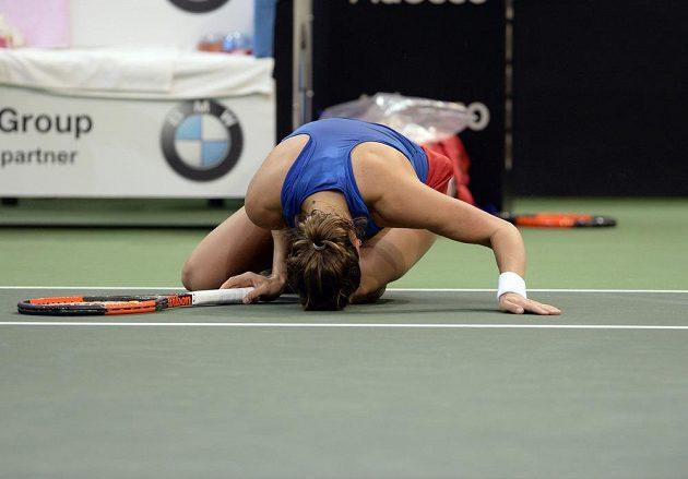 Barbora Strýcová ve finále Fed Cupu