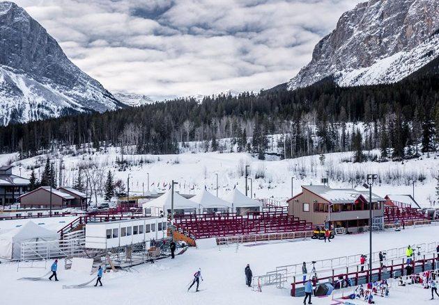 Canmore, ležící nedaleko Calgary, je další zastávkou ve Světovém poháru biatlonistů.