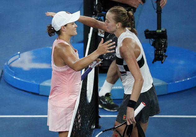 Hotovo, další výhra. Petra Kvitová ve čtvrtfinále Australian Open porazila domácí tenistku Ashleigh Bartyovou.