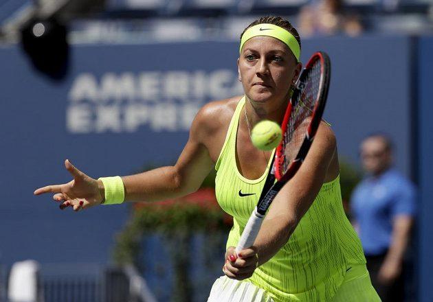 Česká tenistka Petra Kvitová v zápase 2. kola US Open.