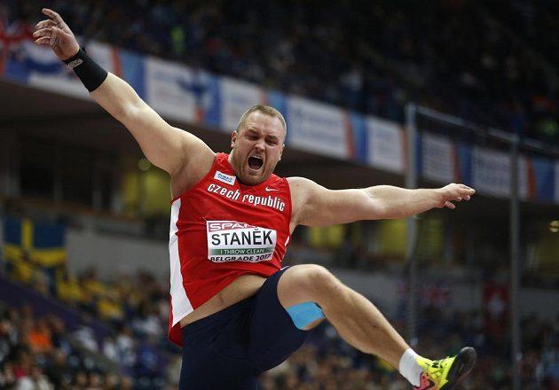 Český koulař Tomáš Staněk bral ve finále HME v Bělehradě stříbro.