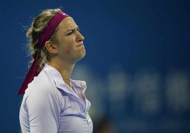 Nespokojená běloruská tenistka Viktoria Azarenková.