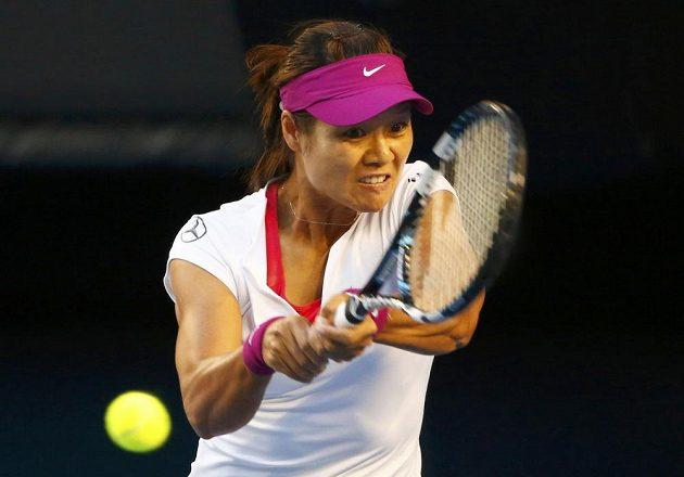 Číňanka Li Na během finále Australian Open.