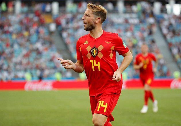 Belgičan Dries Mertens po úvodní trefě duelu s Panamou.