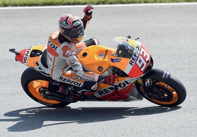 Španělský motocyklista Marc Márquez ovládl sobotní kvalifikaci na VC Německa v kategorii MotoGP.