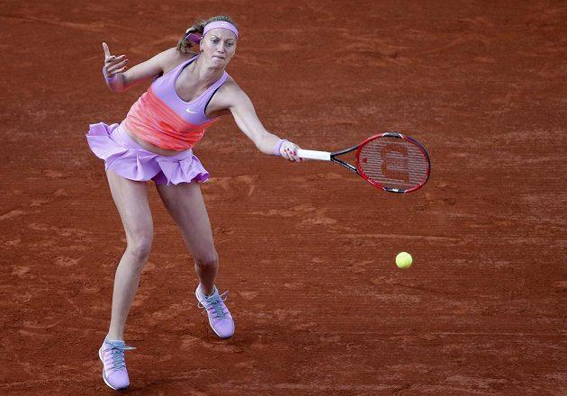 Petra Kvitová v osmifinálové bitvě na Roland Garros.