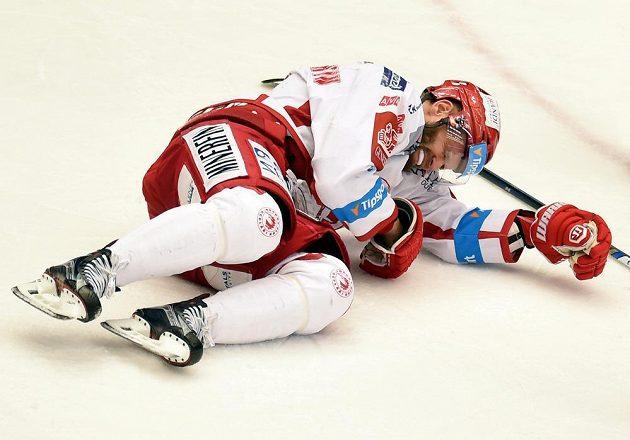 Zraněný Martin Růžička z Třince.