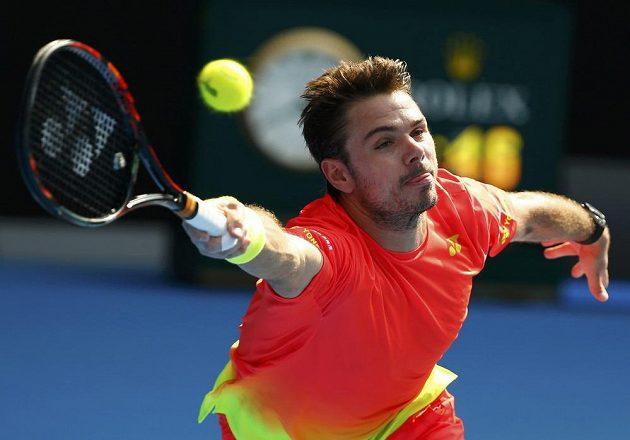 Švýcar Stan Wawrinka během osmifinále Australian Open.