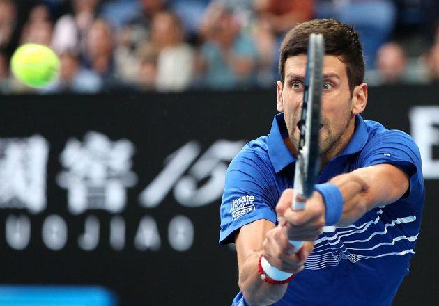 Novak Djokovič ve finále Australian Open 2019.