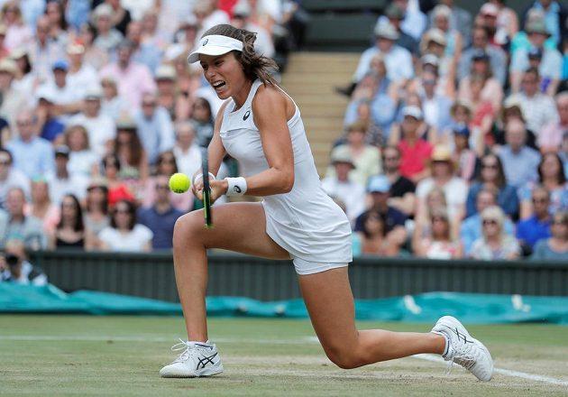 Britka Johanna Kontaová semifinále Wimbledonu.