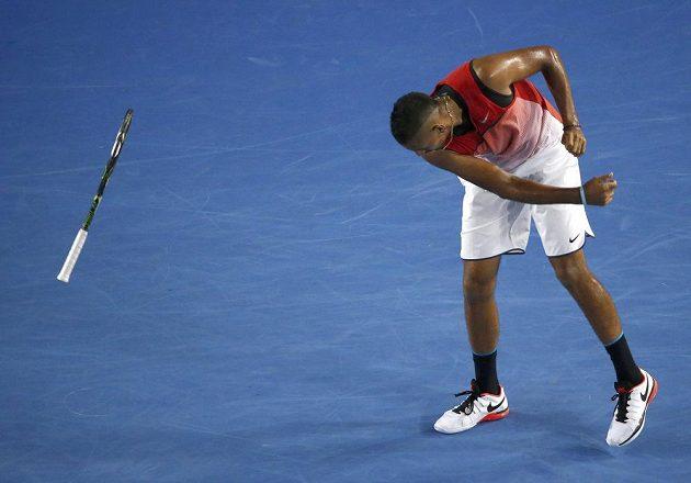 Vzteklá reakce Nicka Kyrgiose během utkání s Tomášem Berdychem na Australian Open.