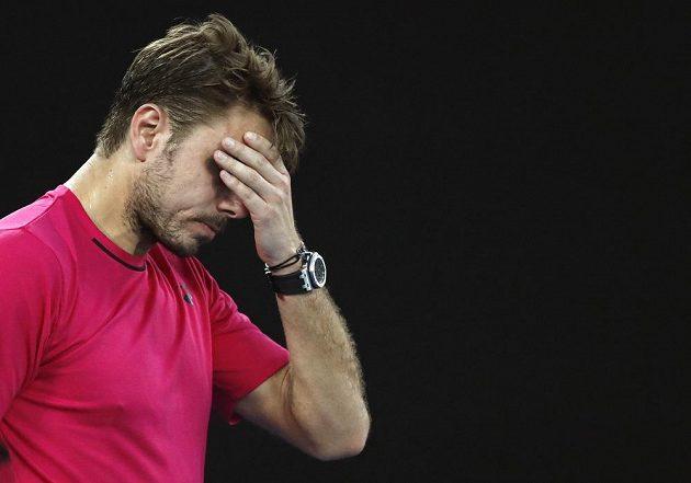 Zklamaný Stan Wawrinka během semifinále Australian Open.