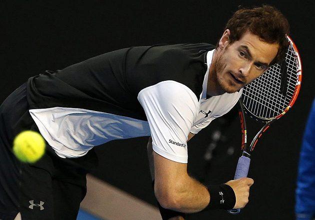Andy Murray během semifinále Australian Open.