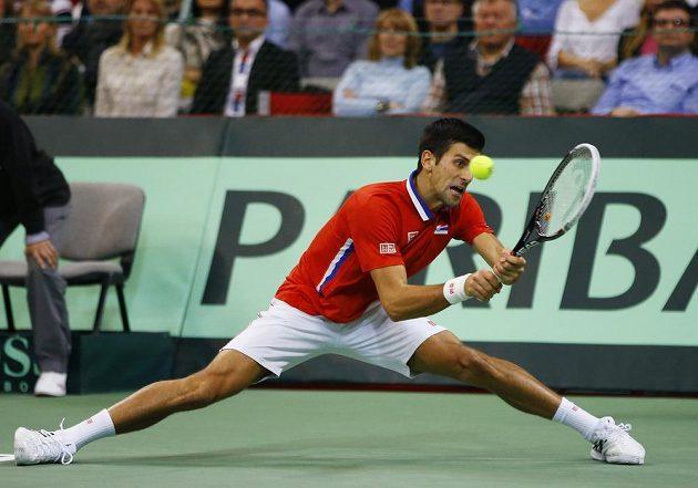 Srbská jednička Novak Djokovič dala do finále všechno.