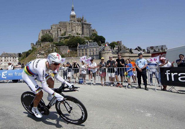 Vítěz středeční časovky na Tour de France Tony Martin z Německa.