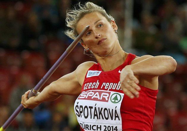 Oštěpařka Barbora Špotáková získala zlato z ME díky pokusu z páté série.