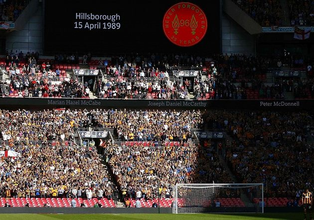 Tragédii v Hillsborough si připomněli i na stadiónu Hull City.