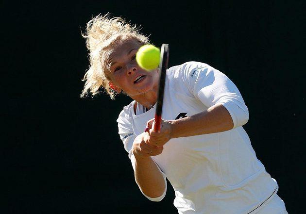 Kateřina Siniaková na letošním Wimbledonu.