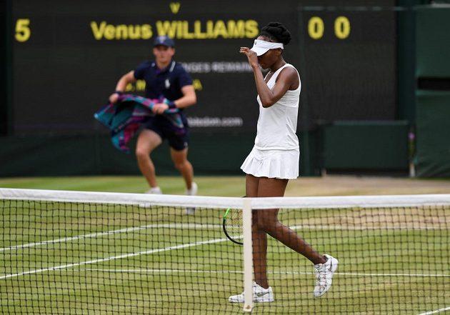 Venus Williamsová ve druhé sadě nedokázala Garbiňe Muguruzaové vzdorovat.