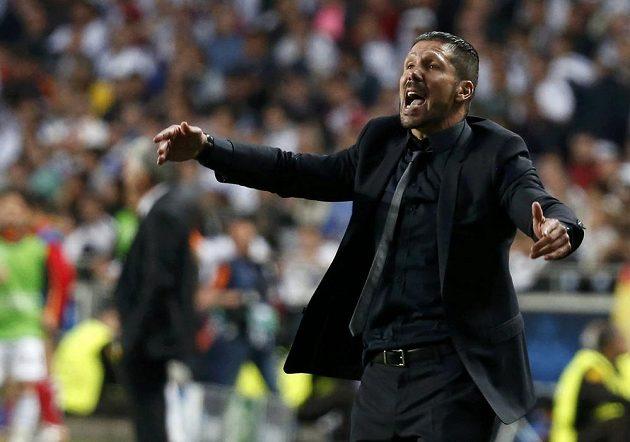 Kouč Atlétika Diego Simeone při finále s Realem.