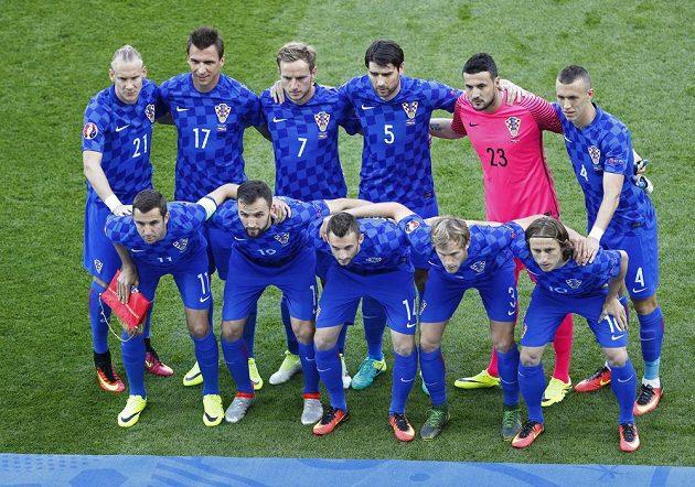 Chorvatští fotbalisté před zápasem s Českem na ME.