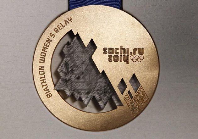 Bronzová medaile pro olympijské hry v Soči.