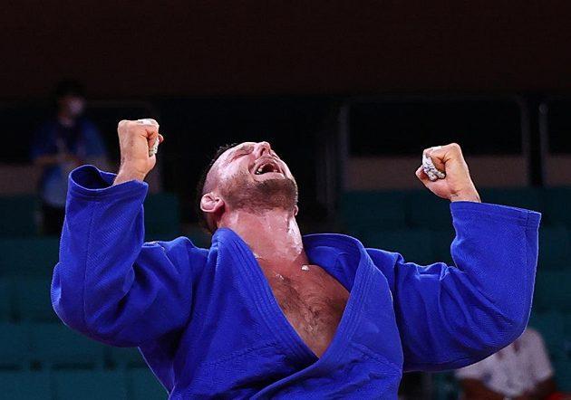 Radost Lukáše Krpálka po postupu do finále olympijského turnaje.