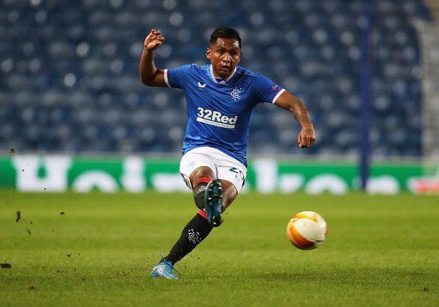 Nebezpečný Alfredo Morelos z Glasgow Rangers.