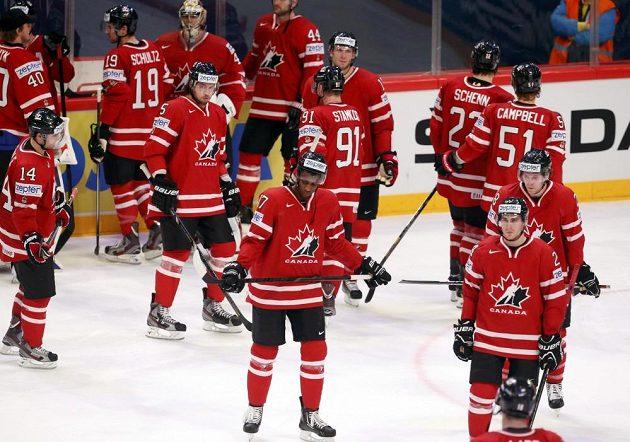 zklamání kanadských hokejistů.