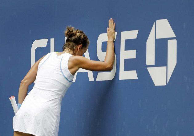 Tenistka Barbora Strycová neskrývá během utkání emoce. Výjimkou nebylo ani 3. kolo US Open.