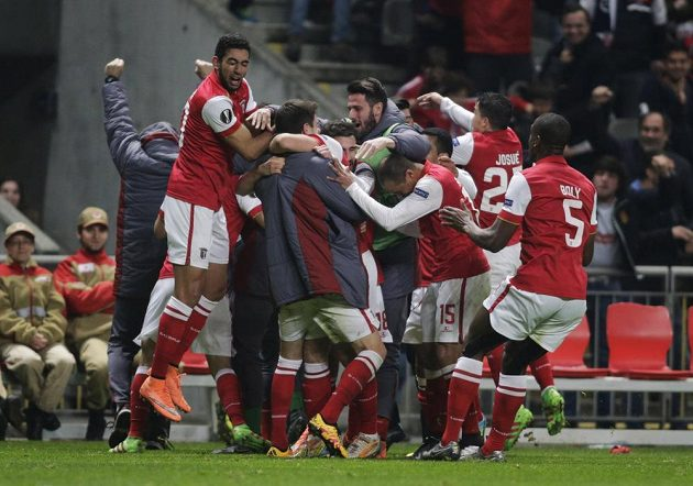 Portugalská Braga, která ještě na podzim bojovala ve skupině s Libercem, je také ve čtvrtfinále Evropské ligy.