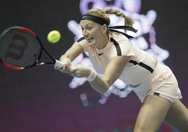 Česká tenistka Petra Kvitová během finále turnaje v Petrohradu.
