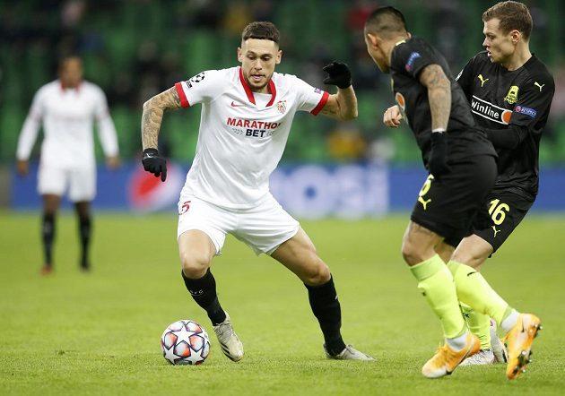 Fotbalisté Sevilly bojovali v Lize mistrů s Krasnodarem