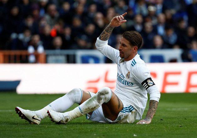 Naštvaná reakce kapitána Realu Sergia Ramose.