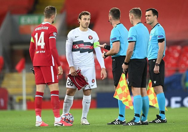 Fotbalisté FC Liverpool v Lize mistrů hrají s přemožitelem Slavie, týmem FC Midtjylland.